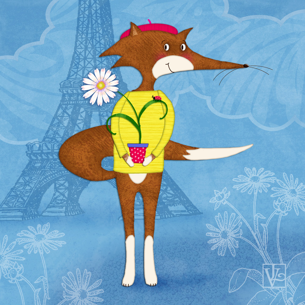 F is for French Fox  by Valerie Lesiak