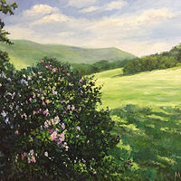 Oil painting Lilacs by Elizabeth4361 Medeiros