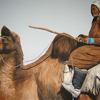 Camel Lady 1 - Copy by Elizabeth Mercer