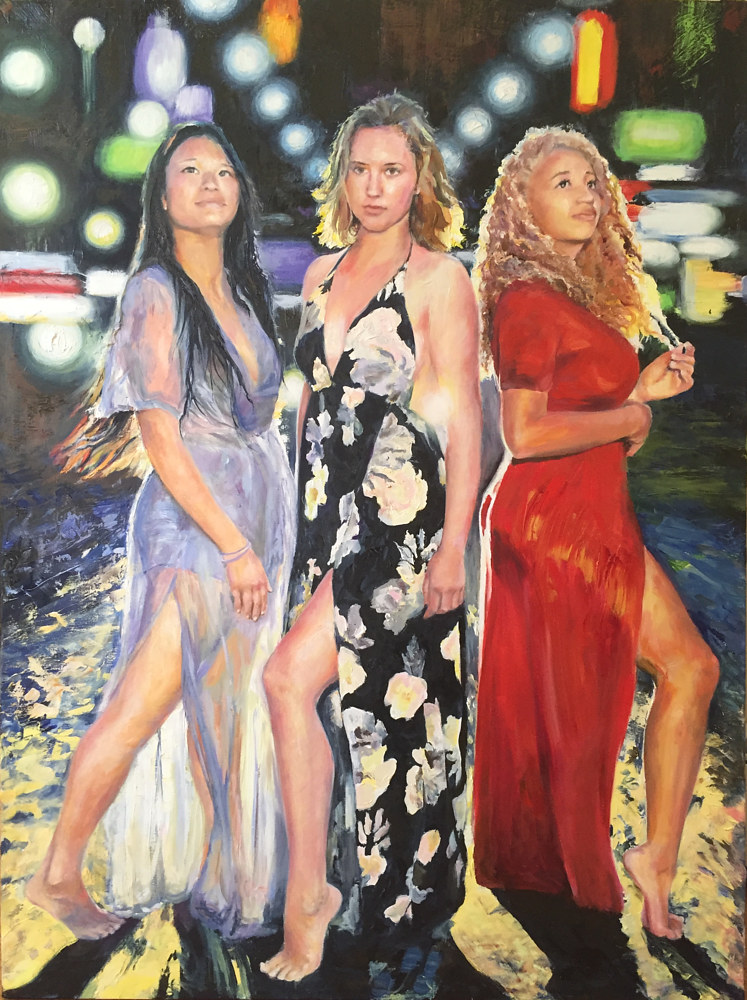 Oil painting The Three Graces by Elizabeth4361 Medeiros