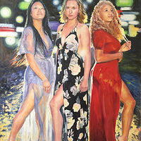 Oil painting The Three Graces by Betty Ann  Medeiros