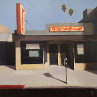 Oil painting Storefront in Sunlight by Alex Selkowitz