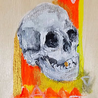Acrylic painting Buona Morte by Barb Martel