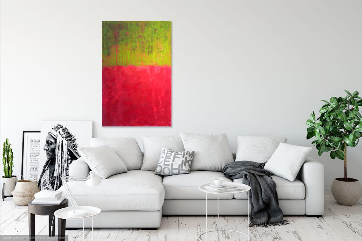 Acrylic painting Red Green by Gordon Sellen