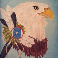 Oil painting Spirit Eagle by Gary Cheatham