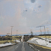 Acrylic painting Road Out by Harry Stooshinoff