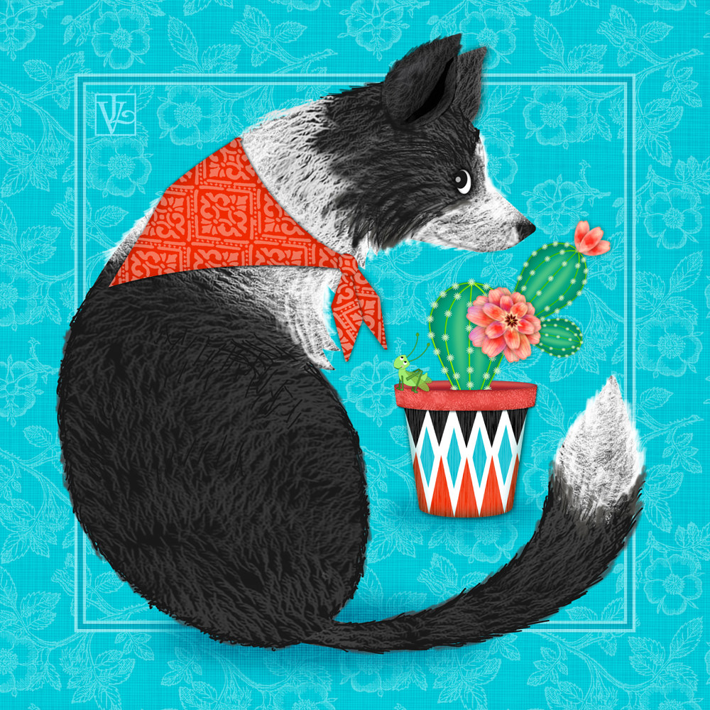C is for Collie and Cactus by Valerie Lesiak