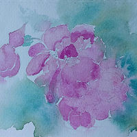 Painting Two Roses by Gwenda Branjerdporn
