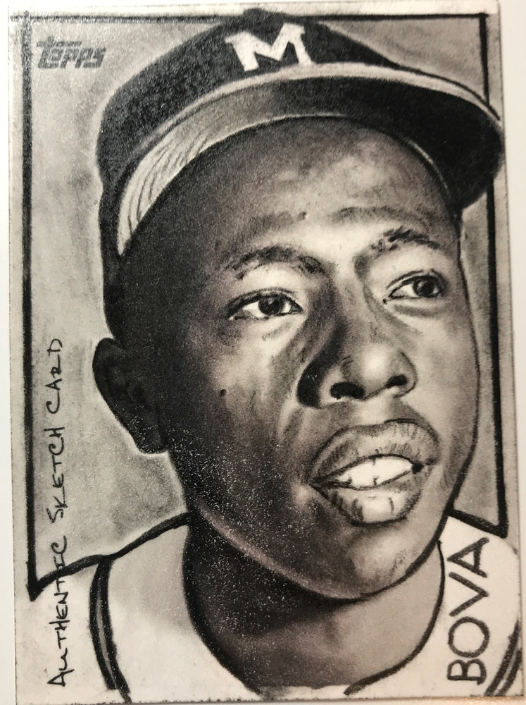 hank aaron by Vincent Bova