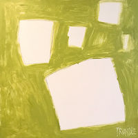 Oil painting Let Me Count The Ways: Shapes in Chartreuse by Sarah Trundle