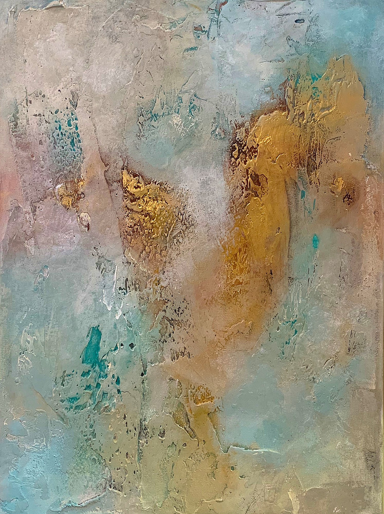 Acrylic painting Gold Crush I by Ginger Thomas