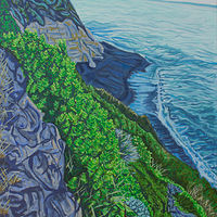 Oil painting The Coast by Crystal Dipietro