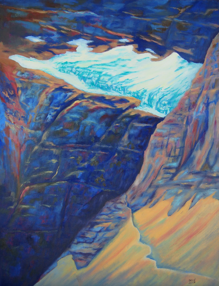 Oil painting Cavel Glacier by Brent Ciccone