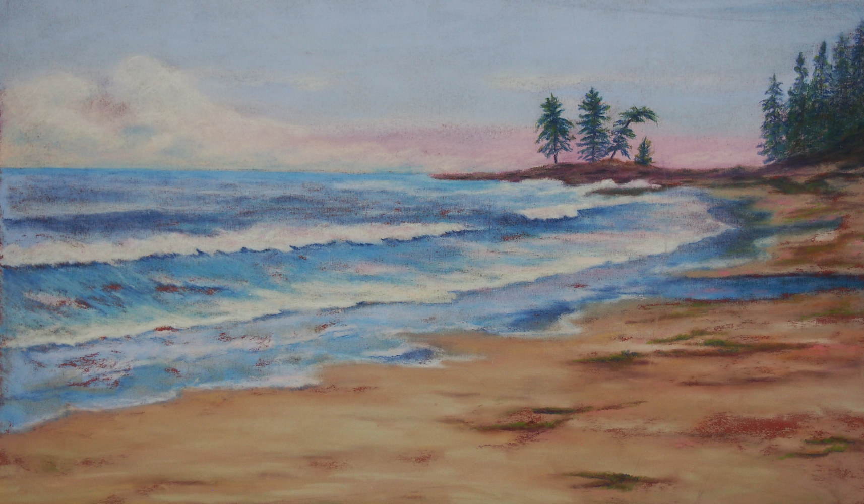 Drawing North Coast Beach by Brent Ciccone