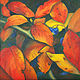 Oil painting Red Yellow and a Touch of Blue by Brent Ciccone