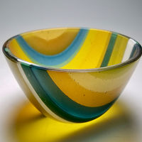 The White Line, Kilnformed Glass by Claudia Whitten