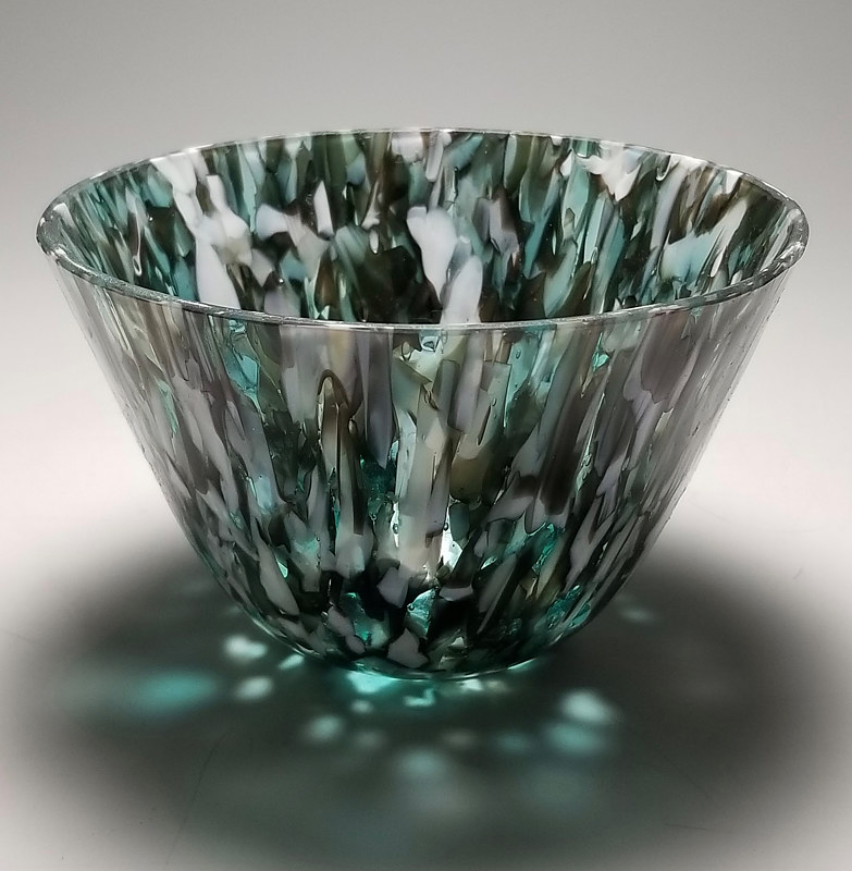 Color Drop 2, Kilnformed Glass by Claudia Whitten