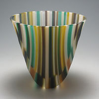Distort , Kilnformed Glass by Claudia Whitten