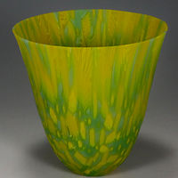 Murrine Vessel, Kilnformed Glass by Claudia Whitten