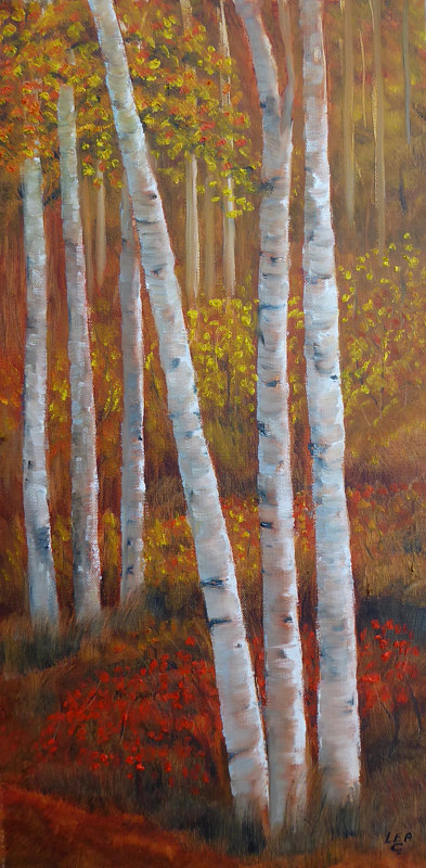 Acrylic painting WoodlandColours#1 by Cecilia Lea