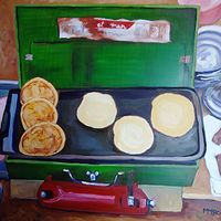 camping breakfast inset  by Michelle Marcotte