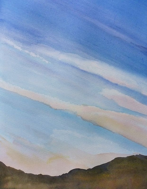 Watercolor Early twilight by Lisa Tomczeszyn