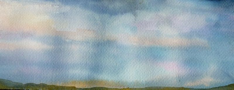 Watercolor Sky study #2 by Lisa Tomczeszyn