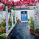 Oil painting Blue Door by Kathleen Gross