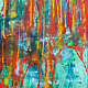 Acrylic painting StarFall     48x60 ________(click on the i for info) by Edward Bock