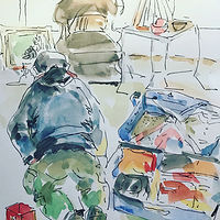 Watercolor Moments ...Don packing... by Wanda Hawse