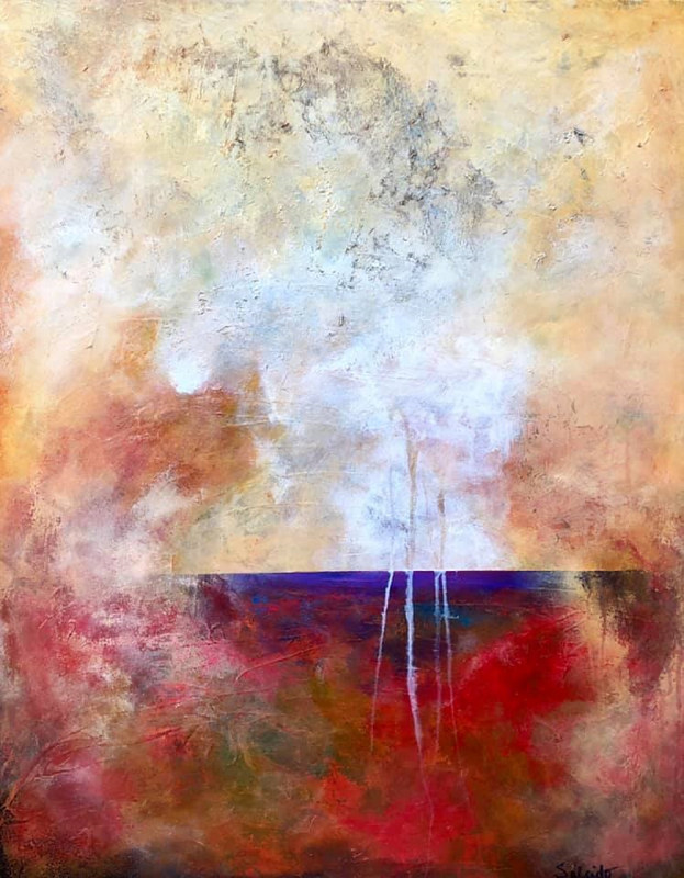 "Mixed-media artwork ""Misty Morning"" by Mike Salcido"