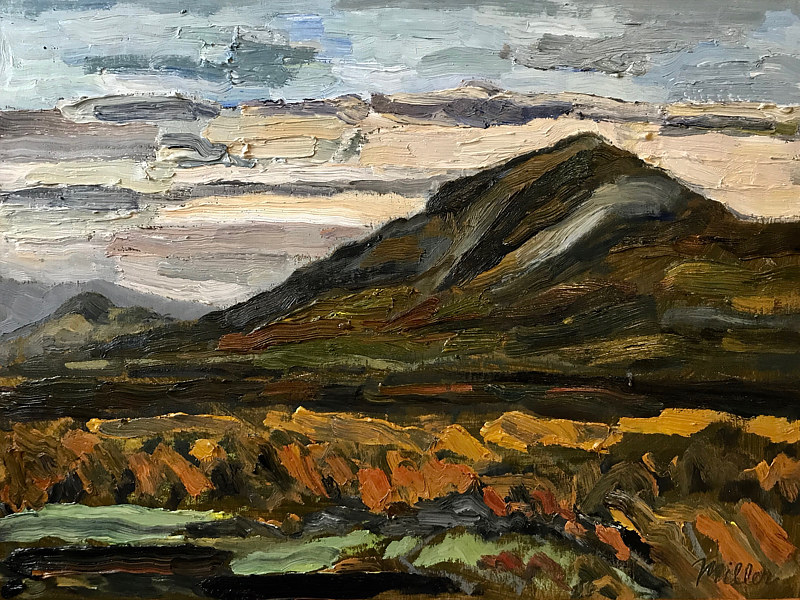 Overlook Mountain #1. 12 x 16, Oil on panel by Edward Miller