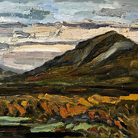 Overlook Mountain from Olana #1, 12 x 16, Oil on panel by Edward Miller