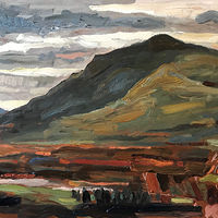 Overlook Mountain from Olana #2, 12 x 16, Oil on panel by Edward Miller