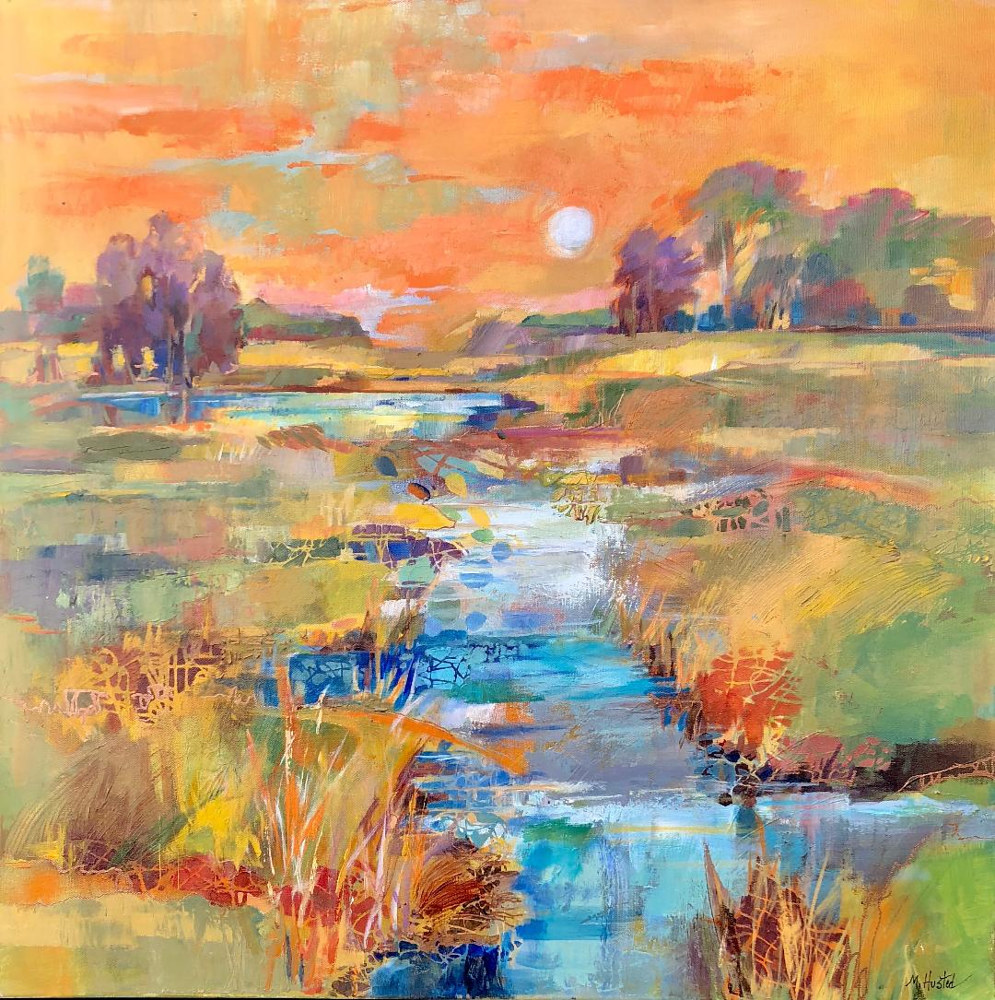 Acrylic painting Along the Way by Marty Husted