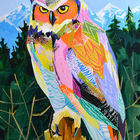 "Acrylic painting ""Perch of One's Own"" by Jennifer Sparacino"