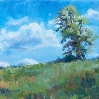 "Oil painting ""Lone Tree"" by Kimberley Senior"