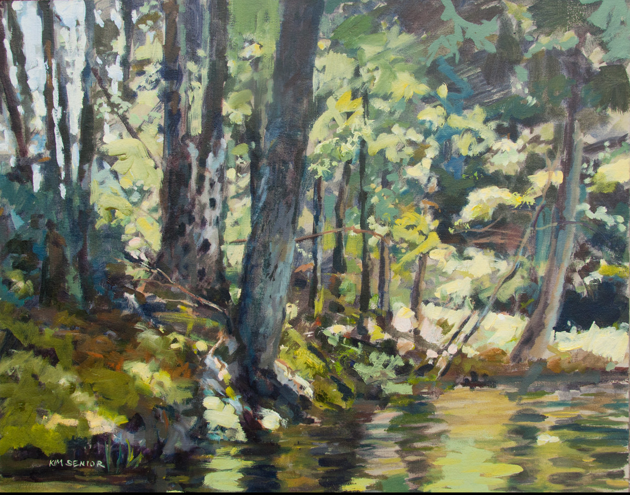 "Oil painting ""Green River"" by Kimberley Senior"