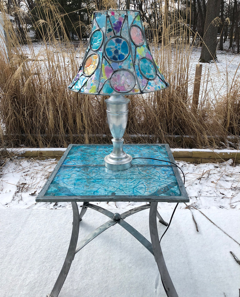 Lampshade Redux #3 (with repurposed table) by Steven Simmons