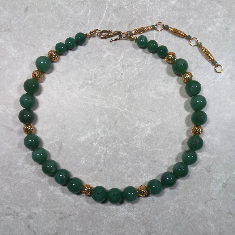 'Lucky Lady' Aventurine gemstone necklace   by Sue Ellen Brown
