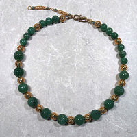 'Lady Luck' Aventurine gemstone with gold beads by Sue Ellen Brown