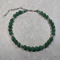 'Serene' Aventurine gemstone with silver by Sue Ellen Brown