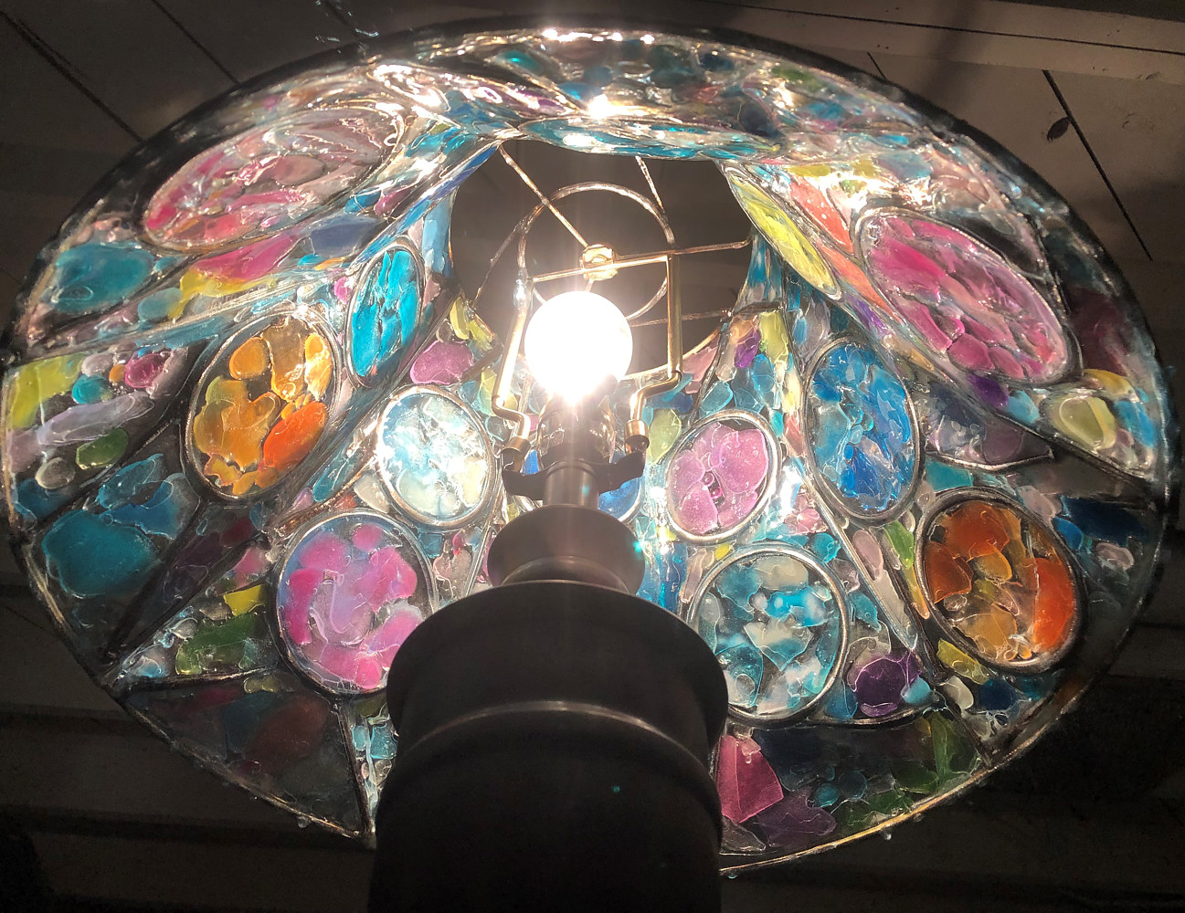 Lampshade Redux #3 (under with lamp) by Steven Simmons