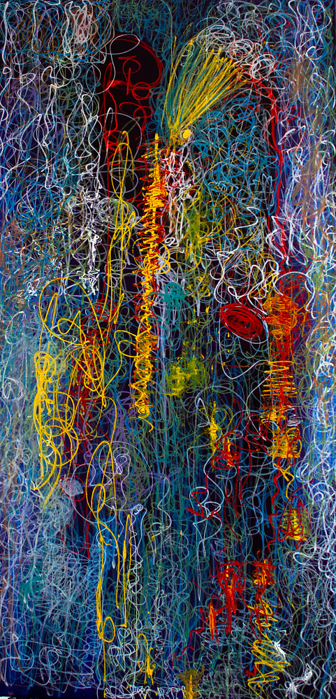 Acrylic painting Twist of Thoughts | Tourbillons de pensées by Nathalie Gribinski