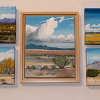 Acrylic painting Southwest Roundup by Steve Latimer