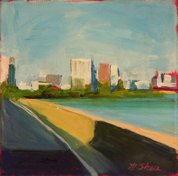 Oil painting lsd and city by Madeline Shea