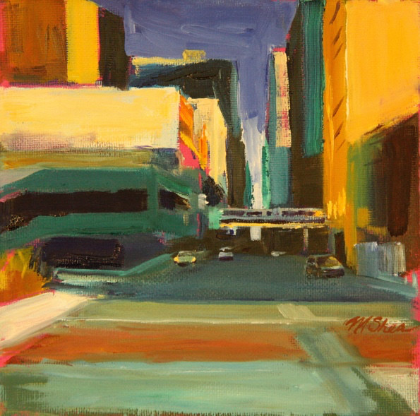 Oil painting study for mcc on van buren by Madeline Shea
