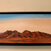Acrylic painting Organ Mountains New Mexico  by Steve Latimer