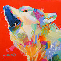 "Acrylic painting ""Little Howler"" by Jennifer Sparacino"