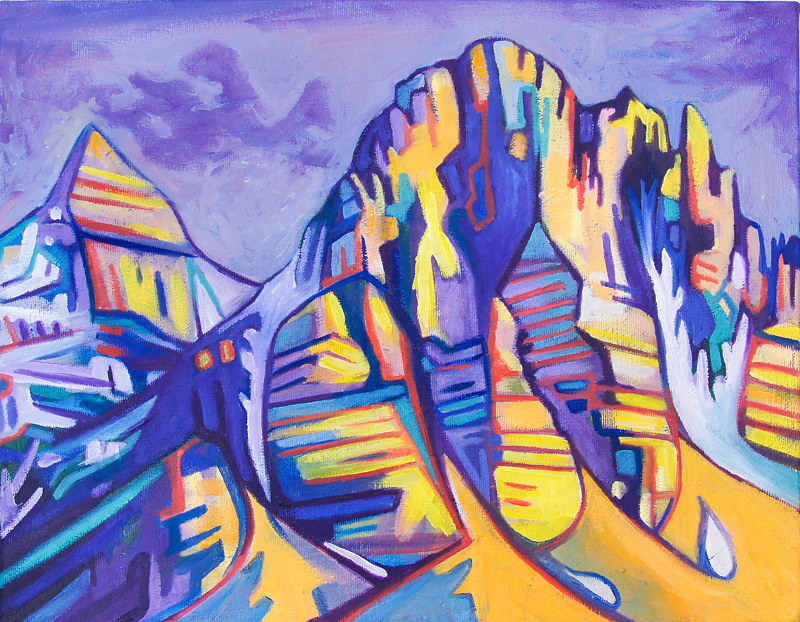 Oil painting Purple Mountains by Claire Cepukas